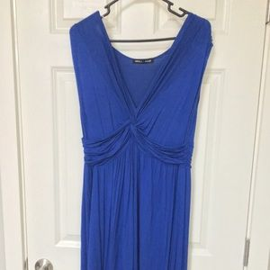 Fashion to Figure Blue Knot Front Maxi Dress